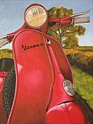 Scooter Paintings - 1963 Vespa 50 by Rob De Vries