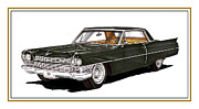 Cadillac Painting Posters - 1964 Cadillac Coupe DeVille Poster by Jack Pumphrey