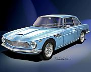 Sports Cars Paintings - 1964 Iso-rivolta  by Danny Whitfield