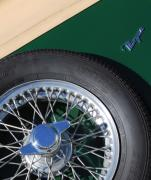 Car Detail Prints - 1964 Morgan 44 Spare Tire Print by Jill Reger
