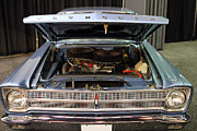 Transportation Photo Prints - 1964 Plymouth Satellite . Blue . 7D9263 Print by Wingsdomain Art and Photography