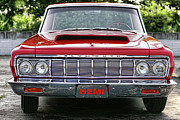 1969 Dodge Charger Stock Car Metal Prints - 1964 Plymouth Savoy Hemi  Metal Print by Gordon Dean II