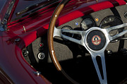 Cobra Photo Posters - 1965 AC Cobra Steering Wheel 3 Poster by Jill Reger