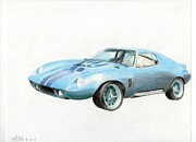 Coupe Drawings Originals - 1965 Corvette Coupe by Mitch Nolte
