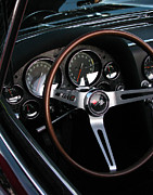 Tail Lights Photos - 1965 Corvette Roadster Dash by Peter Piatt