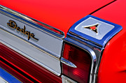 Coronet Framed Prints - 1965 Dodge Coronet 500 Taillight Emblem Framed Print by Jill Reger