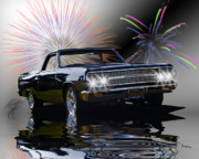 Flood Digital Art Prints - 1965 El Camino Print by Patricia Stalter