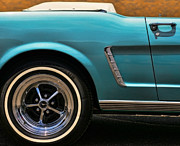Turquois Framed Prints - 1965 Ford Mustang Convertible Framed Print by Gordon Dean II
