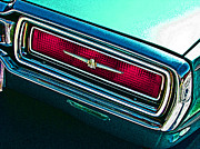 Sam Sheats Framed Prints - 1965 Ford Thunderbird Tail Light Study Framed Print by Samuel Sheats