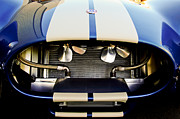 Autos Posters - 1965 Shelby Cobra Grille Poster by Jill Reger