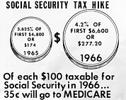 Csu_2012_11 Posters - 1965 Social Security Tax Hike. The Poster by Everett