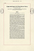 15th Amendment Prints - 1965 Voting Rights Act. The Full Title Print by Everett