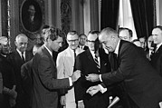 Rfk Photos - 1965 Voting Rights Signing Ceremony by Everett