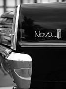 Black And White Photography Digital Art Metal Prints - 1966 Chevy Nova II Metal Print by Gordon Dean II