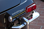 1966 Framed Prints - 1966 Lamborghini 350 GT Coupe Taillight Emblem Framed Print by Jill Reger