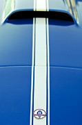 Cobra Photo Prints - 1966 Shelby Cobra Hood Emblem Print by Jill Reger