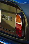 Tail Light Posters - 1967 Aston Martin DB6 Volante Tail Light Poster by Jill Reger