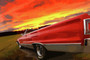 Cave Digital Art Prints - 1967 Plymouth Satellite Convertible Print by Gordon Dean II