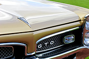 Muscle Car Framed Prints - 1967 Pontiac GTO Grille Emblem 2 Framed Print by Jill Reger