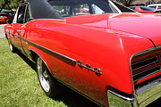 Sportscar Photos - 1967 Red Pontiac GTO . 5D16540 by Wingsdomain Art and Photography