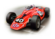 Automotive Digital Art Metal Prints - 1967 STP Turbine Indy 500 Car Metal Print by David Kyte