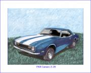 Chevrolet Paintings - 1968 Chevrolet Camaro Z 28 by Jack Pumphrey