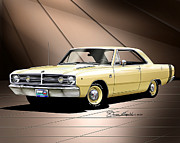 1968 Mixed Media - 1968 Dodge Dart Gts by Danny Whitfield