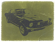Classic Mustang Framed Prints - 1968 Ford Mustang Framed Print by Irina  March
