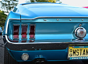 Brake Framed Prints - 1968 Mustang Brake Light Framed Print by Paul Ward