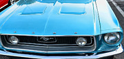 Steve Mcqueen Framed Prints - 1968 Mustang Fastback Hood Framed Print by Paul Ward