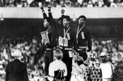 Political Statement Prints - 1968 Olympics, 4x100 Mens Relay Team Print by Everett