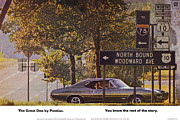 The Tiger Posters - 1968 Pontiac GTO - Woodward - The Great One by Pontiac Poster by Digital Repro Depot