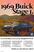 Rather Posters - 1969 Buick GS 400 Stage 1 Poster by Digital Repro Depot