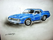 Chevy Pastels - 1969 Camaro by Annette Battaglia