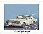 Vipers Posters - 1969 Dodge Charger Poster by Jack Pumphrey