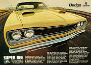 Advertisement Art - 1969 Dodge Coronet Super Bee by Digital Repro Depot