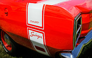 Car Details Framed Prints - 1969 Dodge Dart Swinger 340 Framed Print by Thomas Schoeller