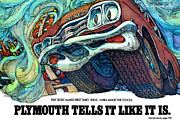 Advertisement Art - 1969 Plymouth GTX - Plymouth Tells It Like It Is by Digital Repro Depot