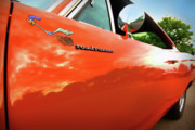 Orange Digital Art Originals - 1969 Plymouth Road Runner 440 Roadrunner by Gordon Dean II