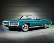 1969 Mixed Media - 1969 Pontiac Bonneville by Danny Whitfield