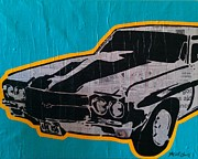 Chevelle Paintings - 1970 Chevelle by Michael Jones