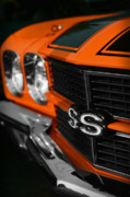 V8 Chevelle Posters - 1970 Chevelle SS396 SS 396 Orange Poster by Gordon Dean II