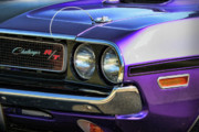 Purple Digital Art Originals - 1970 Dodge Challenger RT 440 Magnum by Gordon Dean II