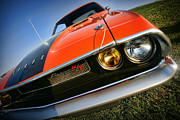 Orange Digital Art Originals - 1970 Dodge Challenger RT Hemi Orange by Gordon Dean II