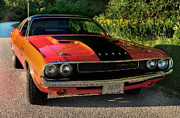 Hemi Metal Prints - 1970 Dodge Challenger RT Metal Print by Thomas Schoeller