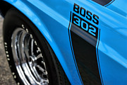Decals Posters - 1970 Ford Mustang Boss 302 Poster by Gordon Dean II