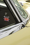 Jaguar E Type Photos - 1970 Jaguar XK Type-E Emblem by Jill Reger