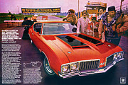 Doc Digital Art - 1970 Oldsmobile Cutlass 4-4-2 by Digital Repro Depot