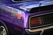 440 Six Pack Prints - 1970 Plymouth AAR Cuda Plum Crazy Purple Print by Gordon Dean II