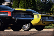 Grip Posters - 1970 Plymouth Cuda 440 and HEMI Poster by Gordon Dean II